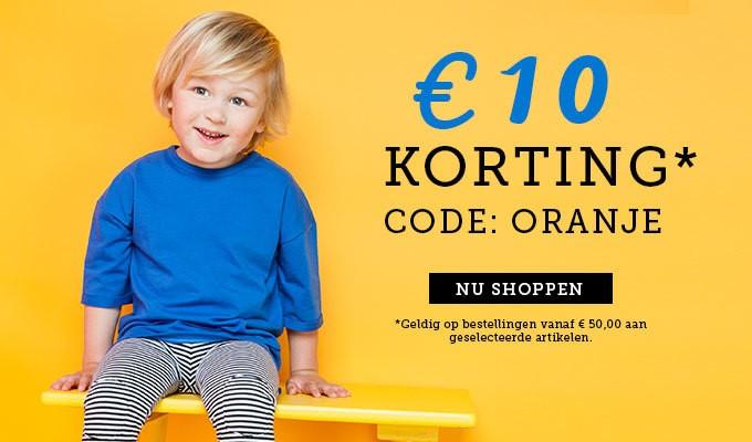 €10,- korting bij besteding van €50,- @ kixx-online.nl & olliewood.nl (kinderkleding)