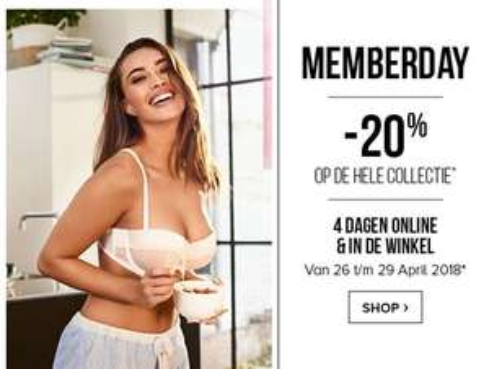 Memberdays: 20% korting op totale collectie @ Hunkemöller