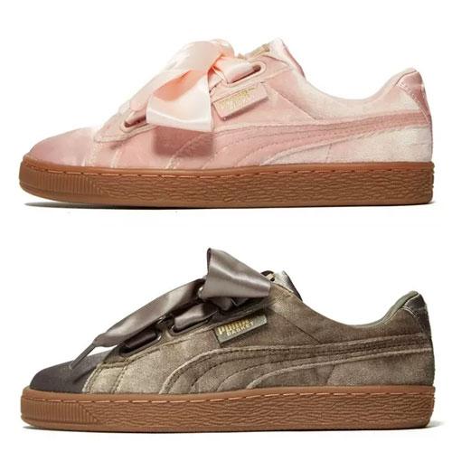[In prijs verlaagd] Puma Basket Heart Velvet sneakers nu €35 (was €100) @ JD Sports