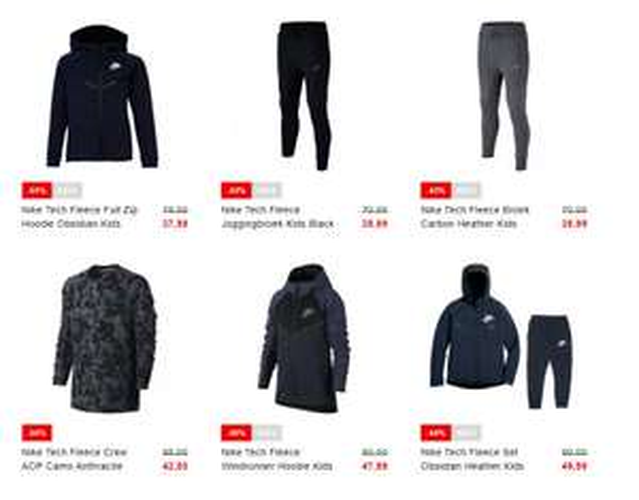 Dit weekend (va 27-04) 30% (extra) korting op Nike Tech Fleece @ Voetbalshop.nl