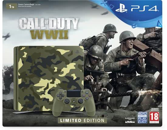 Dagaanbiedig: Sony PlayStation 4 Slim 1TB Camo edition - Call of Duty: WWII + God of War - €309 @ BOL