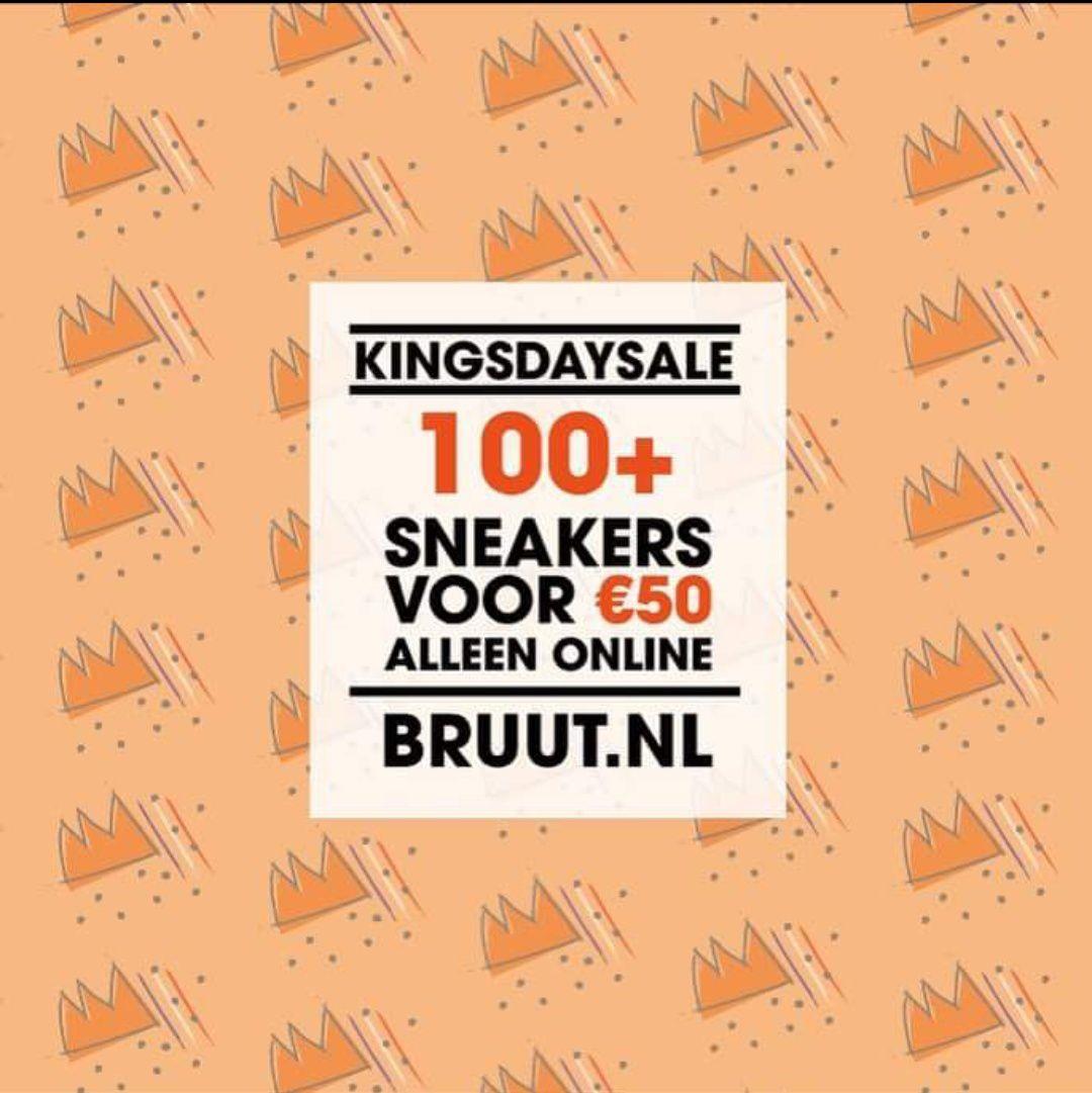 100+ sneakers voor 50 euro bij Bruut