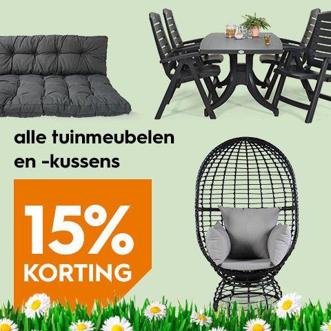 15% korting op alle tuinmeubelen en tuinkussens @ Blokker.nl