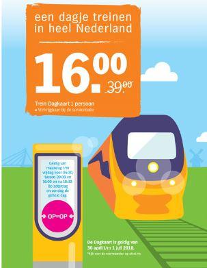 NS Trein dagkaart voor 16,-  @ Albert Heijn