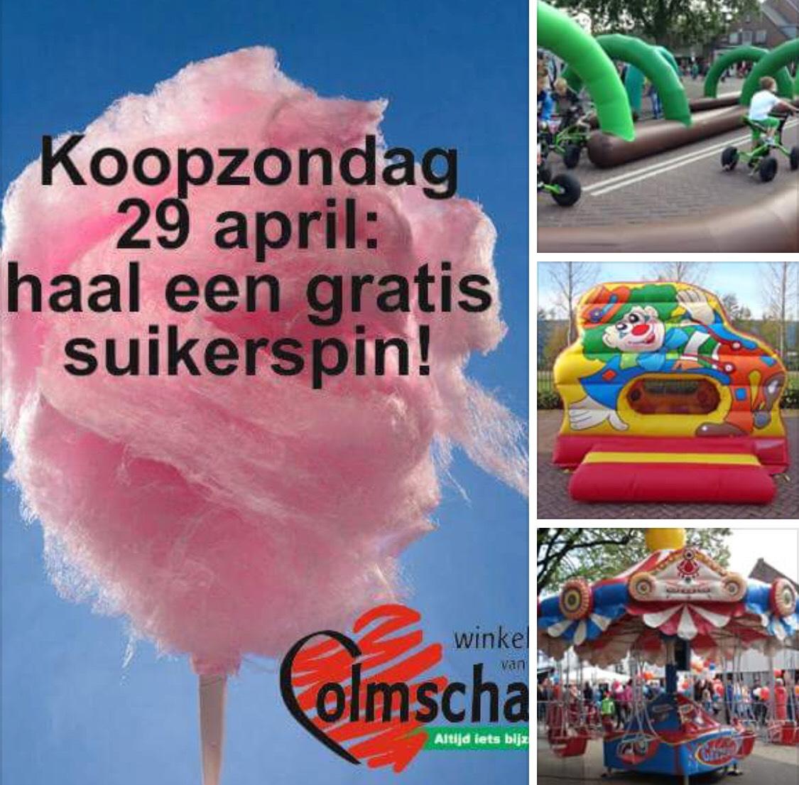 GRATIS suikerspin + toegang tot attracties voor kinderen @Colmschate Winkelhart Deventer