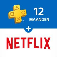 PlayStation®Plus: lidmaatschap van 12 maanden + 3 maanden Netflix @ PSN