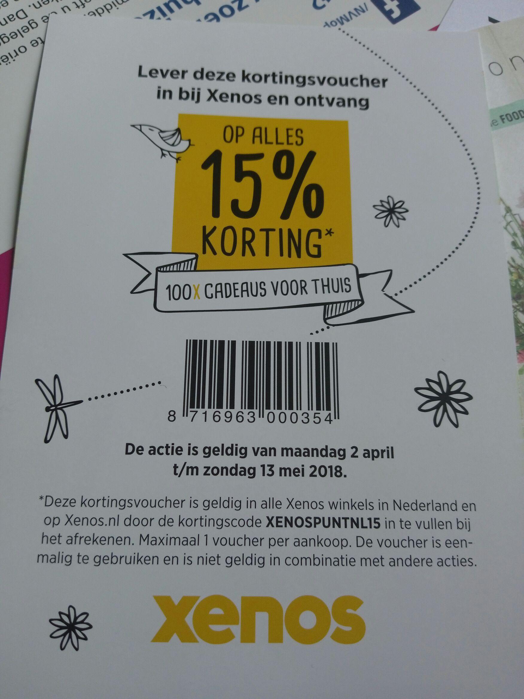 15% korting op alles bij Xenos