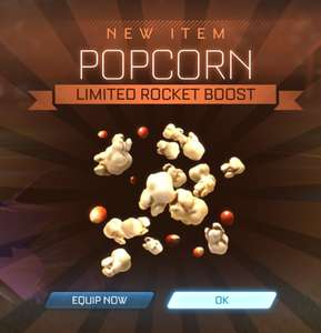 "Gratis Popcorn boost trail @ Rocket League met code ""popcorn"""