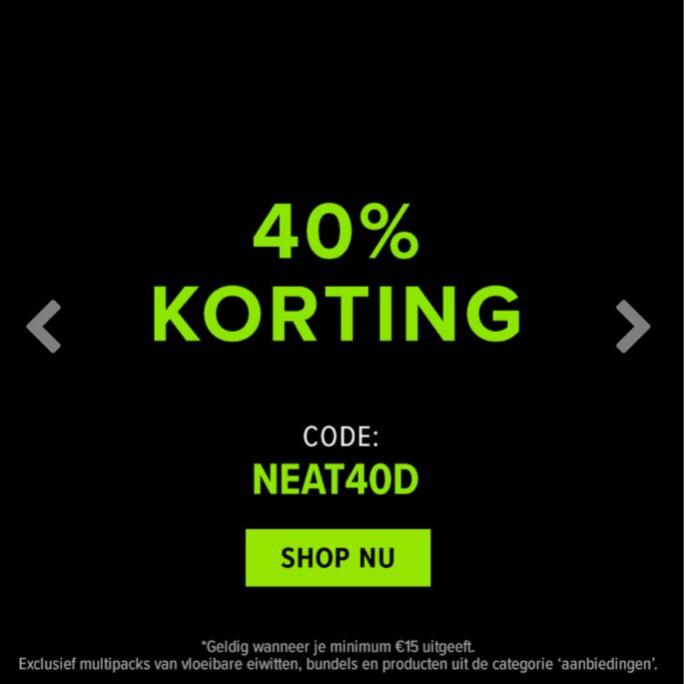 47% korting op alles bij Bulkpowders.nl