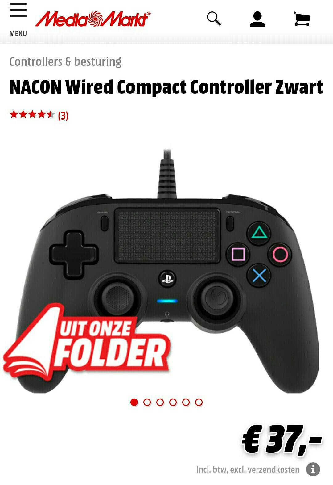 Nancon ps4 controller (bedraad) bij  media markt