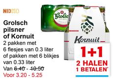 Half krat Grolsch Kornuit voor € 3,18 @Hoogvliet