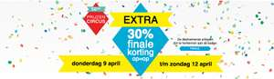 30% extra korting + gratis verzending door actiecode @ V&D