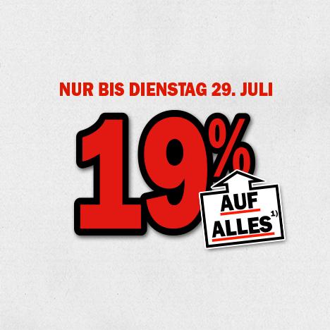 19% korting op alles @ Media Markt Duitsland