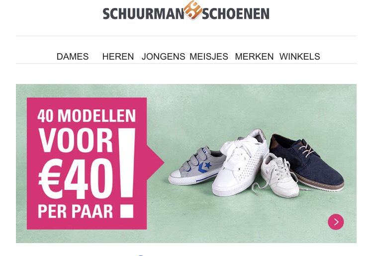Schuurman schoenen , 1 paar €40,-