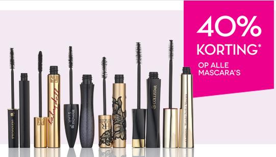 40% korting op alle mascara's @ ICI PARIS XL