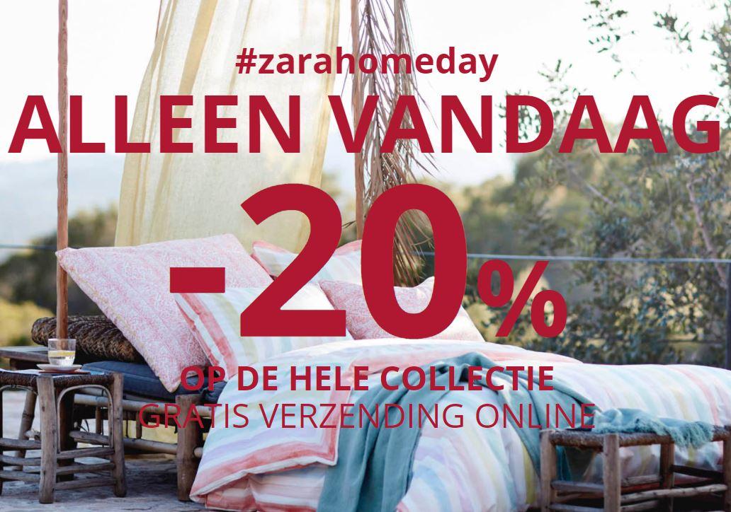 Zara Home Day: 20% korting op het gehele assortiment + gratis verzending