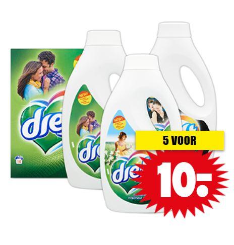 Dreft wasmiddel 5 voor €10 @ Dirk