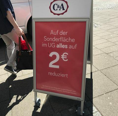 [Grendeal] C&A duitsland alles 2 euro ook kinderafdeling!