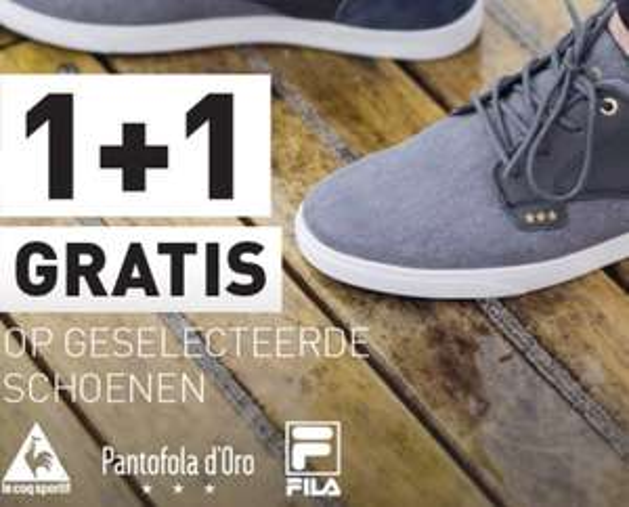 1+1 GRATIS op geselecteerde schoenen & slippers + 10% extra korting @PerrySport