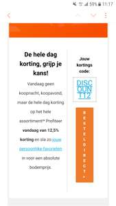 12,5% procent korting bij Body and Fit