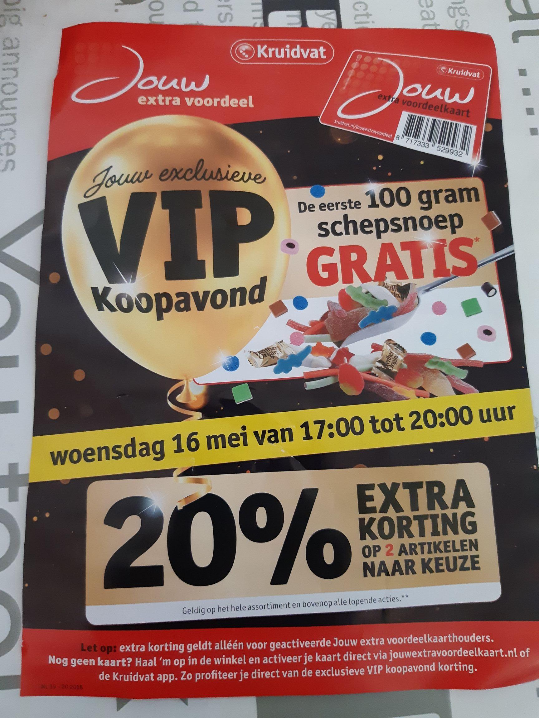 Vandaag vanaf 17.00: 2x20% korting op product naar keuze @ Kruidvat