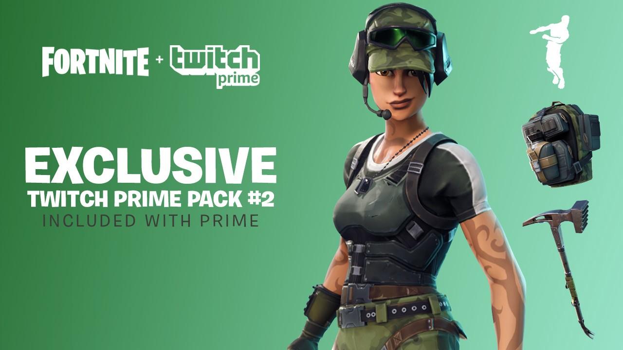 Fortnite Battle Royale Twitch Prime Pack 2 gratis vanaf 9 mei