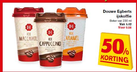 DE Ice Coffee met 50% korting bij Hoogvliet