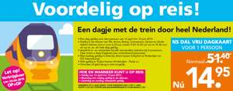 [UPDATE] NS Dal Vrij Dagkaart 2015 voor €14,95 @ Blokker