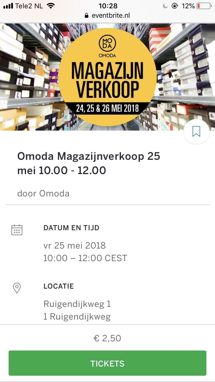 Omoda Magazijnverkoop 24 t/m 26 mei
