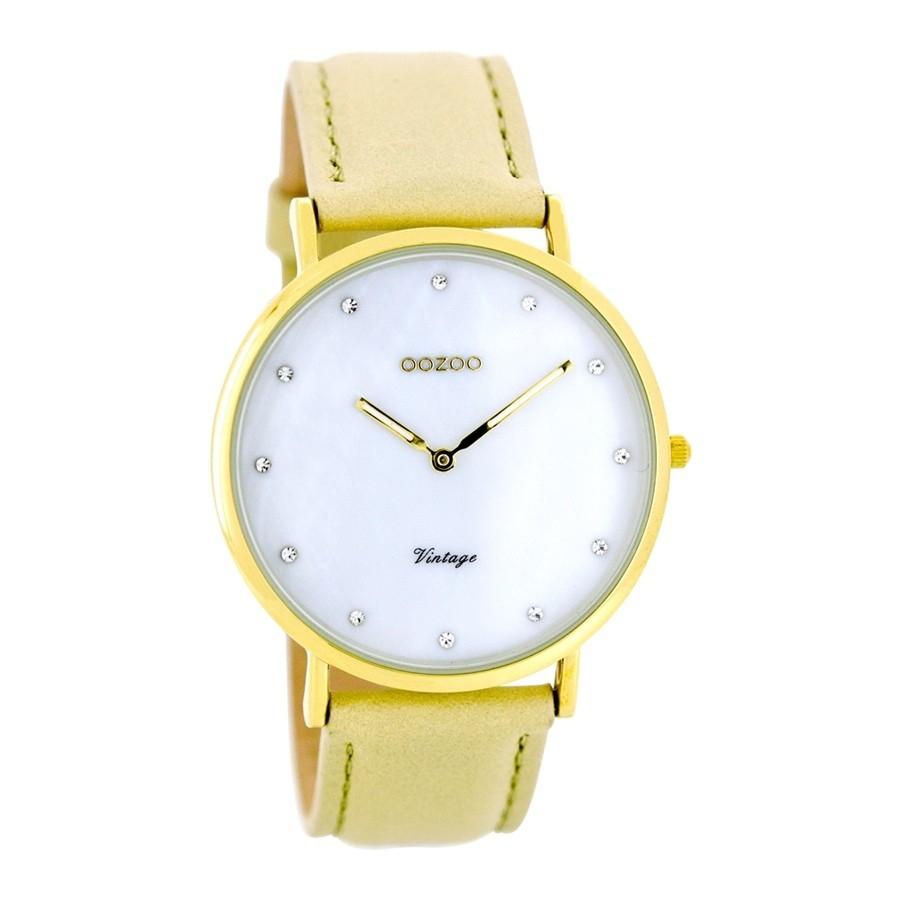 Oozoo horloge met leren band -70% = €11,99 @ Brandfield