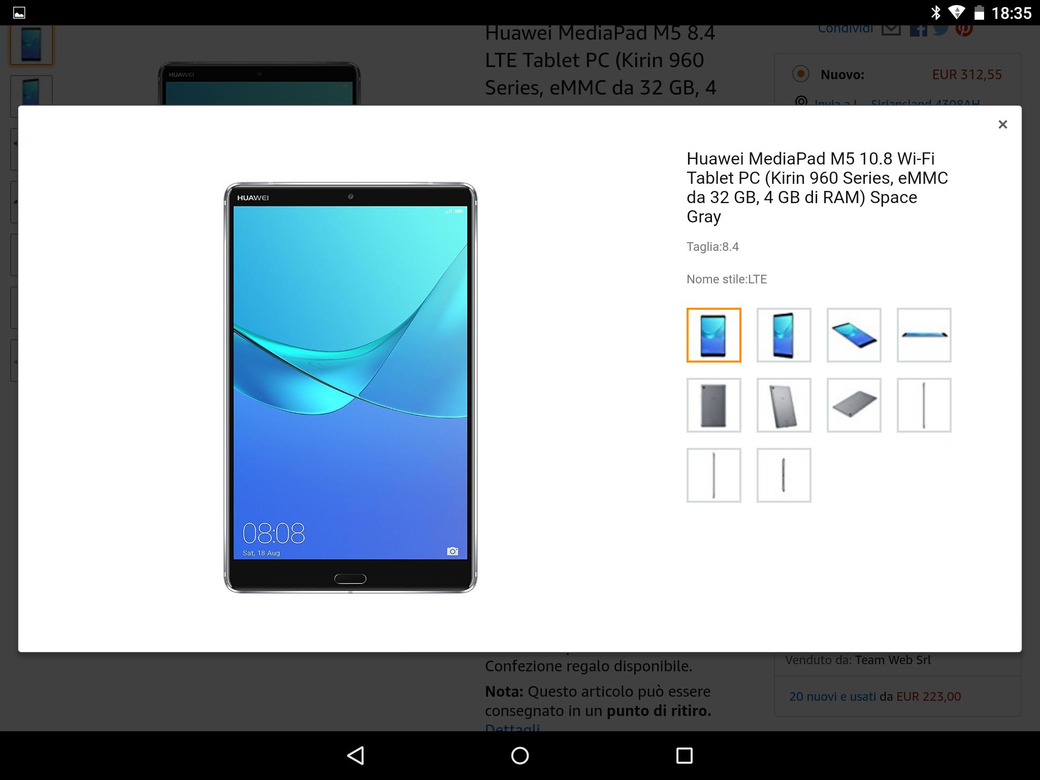 Huawei Mediapad M5 8.4 LTE 309,69 @ Amazon.it