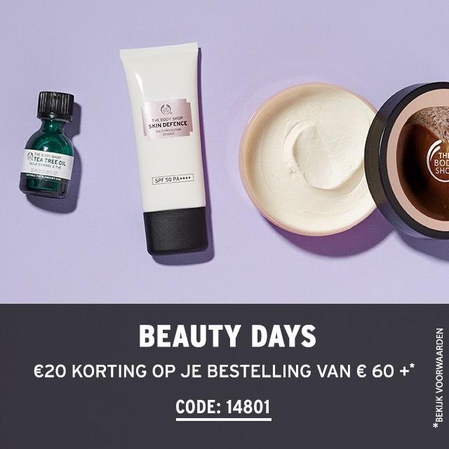 The Body Shop €20,- korting bij besteding €60