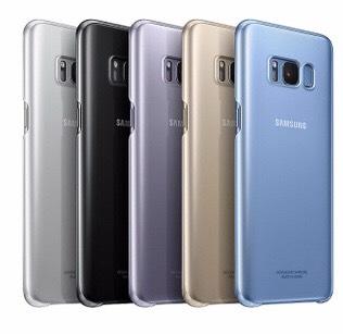 [prijsfout] Originele Samsung Galaxy S8+ telefoonhoes (blauw en zilver) @Ottos.nl