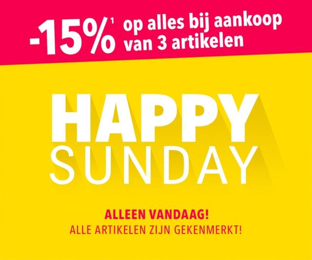 Alleen vandaag: Happy Sunday -15% op alles bij aankoop van 3 artikelen @ Toysrus