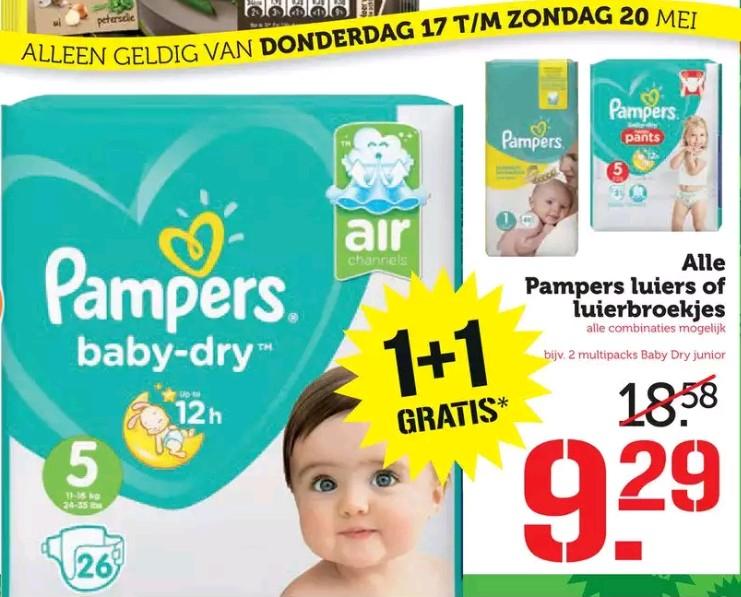 Pampers 1+1 / 2e gratis @Coop @Emte @Hoogvliet