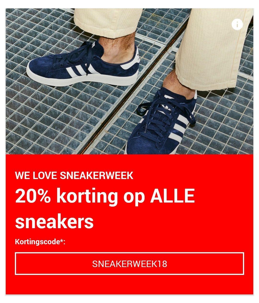 20% Korting op Sneakers bij Zalando (min €80)
