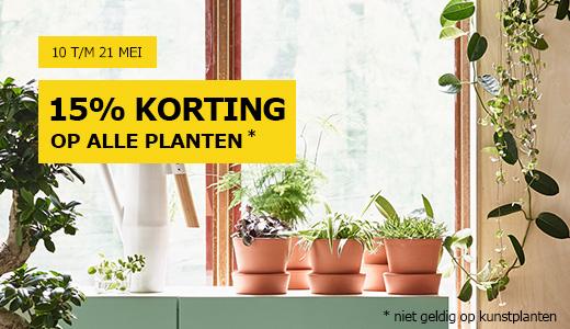 15% korting op alle planten @ IKEA