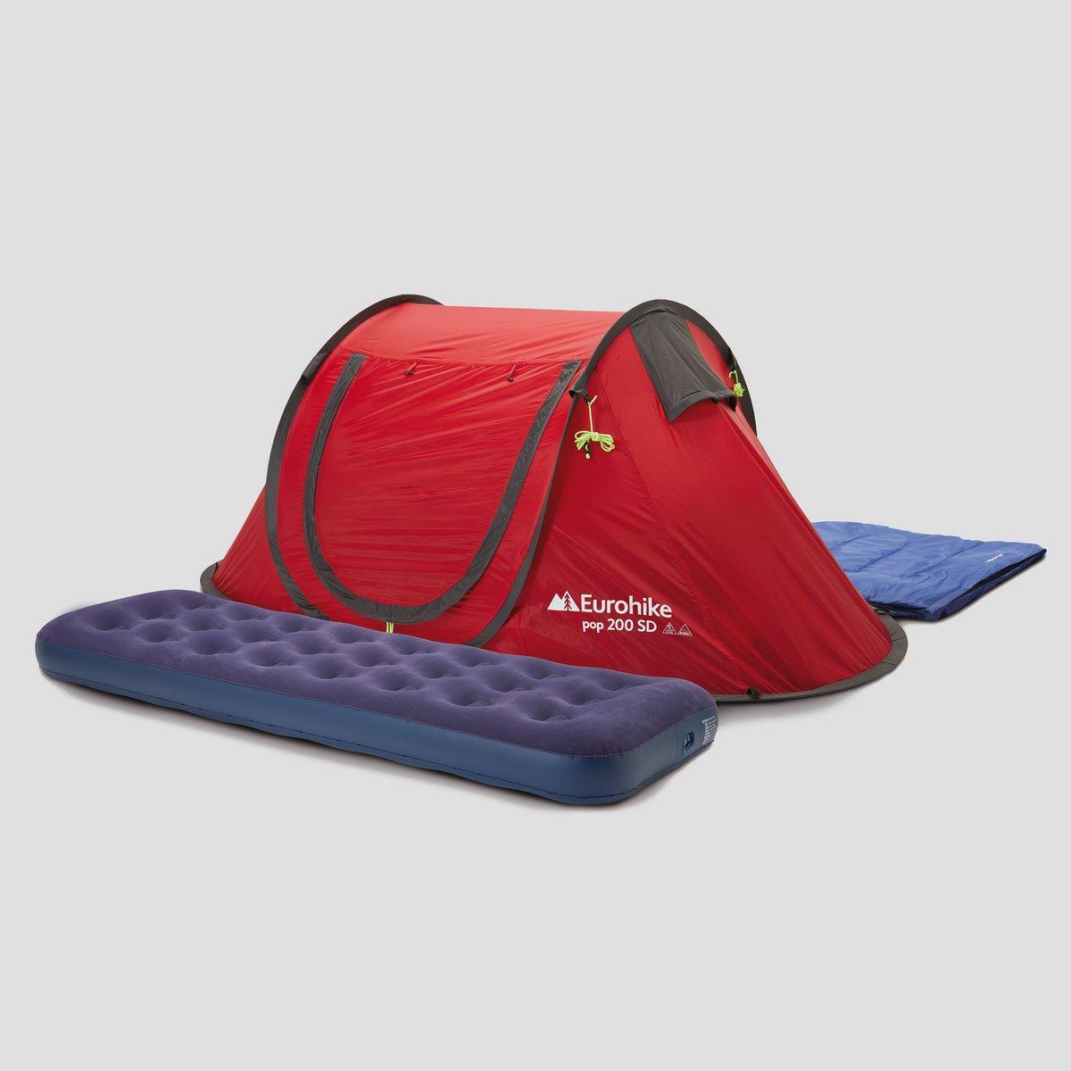 Eurohike kampeerset (tent + luchtbed + slaapzak) voor €40 @ PerrySport