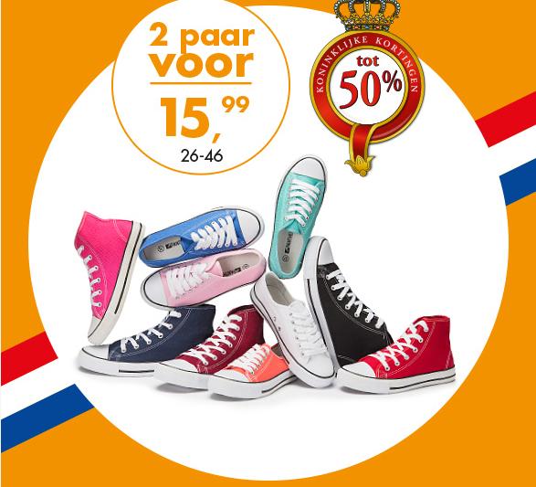 2 paar schoenen voor €15,99 @  Bristol