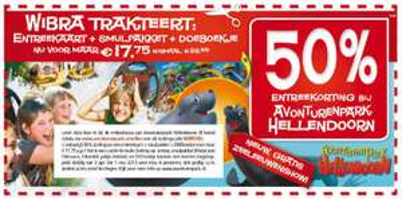 Entreekaart Avonturenpark Hellendoorn + Smullpaket en doeboekje voor €17,75 door kortingscode