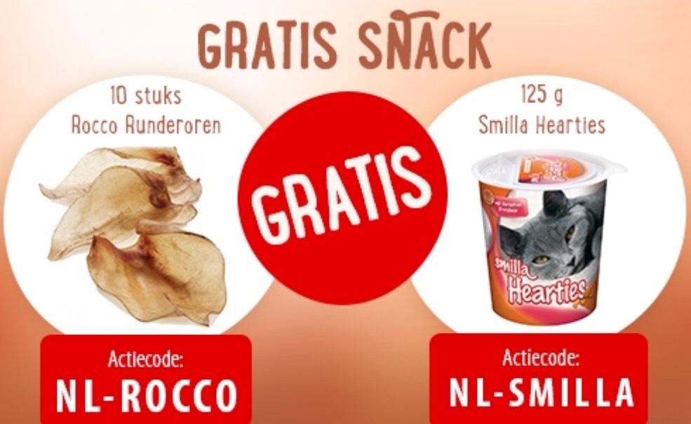 GRATIS snack voor hond/kat bij min.besteding van €39,- @ZooPlus