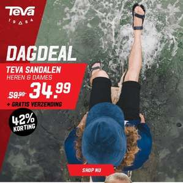 Dagdeal bij AktieSport 42% korting op Teva Sandalen