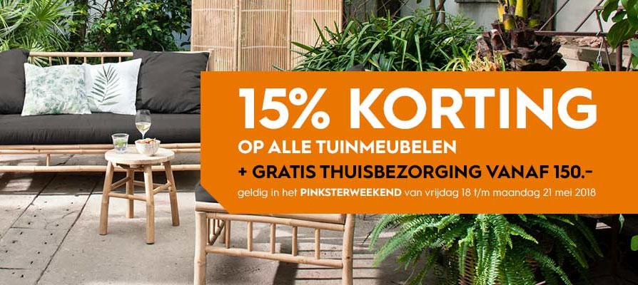 Actie: 15% korting op tuinmeubelen + gratis bezorgd (va €150) @ Blokker