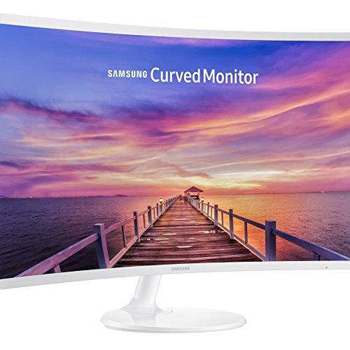 Samsung C32F391 monitor met curved beeldscherm, 80 cm (32 inch), HDMI, responstijd 4ms, 1920 x 1080 pixels, wit