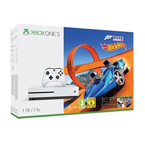 Xbox One S 1TB + Forza Horizon 3 + Hot Wheels voor €208,68 (met extra controller + Halo 5 + Gears Of War + PUBG - €251,33) @ Amazon.fr