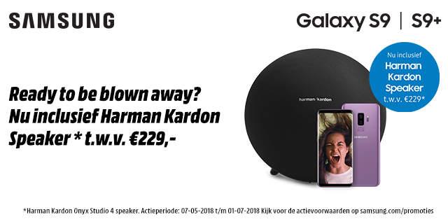 Harman Kardon Onyx 4 speaker gratis bij aanschaf van Samsung Galaxy S9 | S9+  @ Samsung