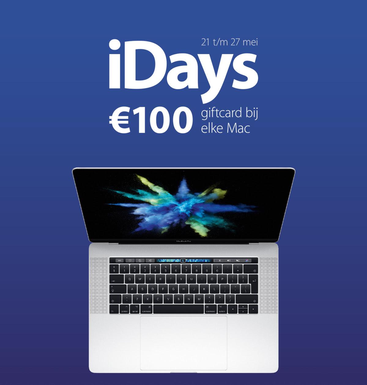 iDays - bij elke Mac een giftcard t.w.v. €100,- en bij elke iPad een giftcard t.w.v. €25,- @ Amac