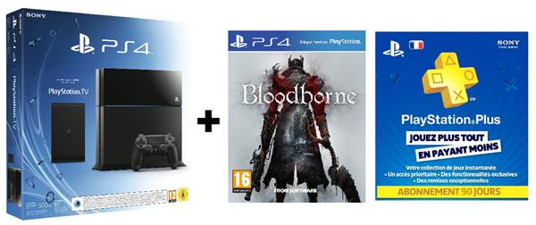 PlayStation 4 console + PlayStation TV + Bloodborne + 90 dagen PS Plus voor €407,66 @ Amazon.it