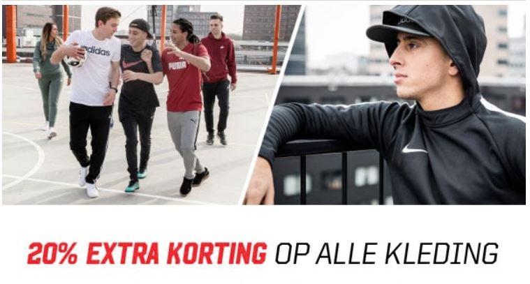 Actie: 20% (extra) korting op alle kleding - dames /heren /kids @ Aktiesport