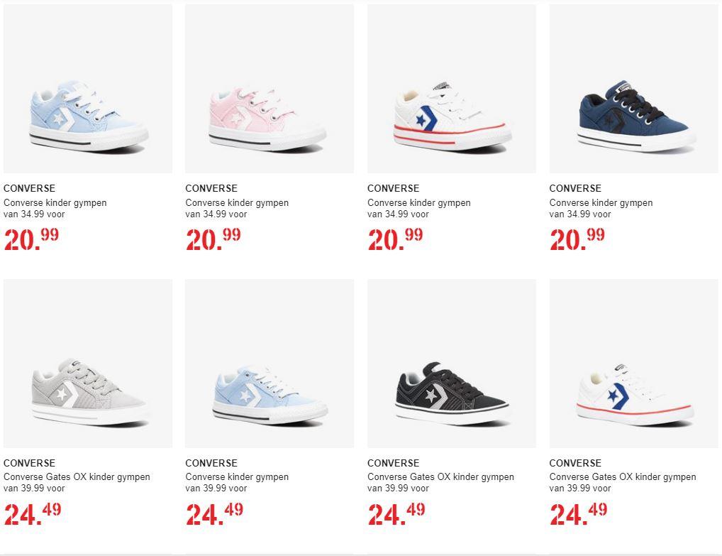 Converse kids sneakers 30% korting (va €20,99) + evt €5 extra korting (va €50) @ Scapino